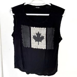 It Closet Made in USA Canada Flag Muscle Tank
